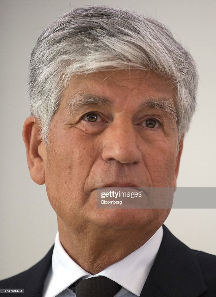 Maurice Levy, chief executive officer of Publicis Groupe SA, pauses during a news conference at the Publicis headquarters in Paris, France, on Sunday, July 28, 2013. Publicis Groupe SA and Omnicom Group Inc. agreed to merge in an all-stock transaction to create the world's largest advertising company with $23 billion in revenue, toppling market leader WPP Plc. Photographer: Balint Porneczi/Bloomberg via Getty Images