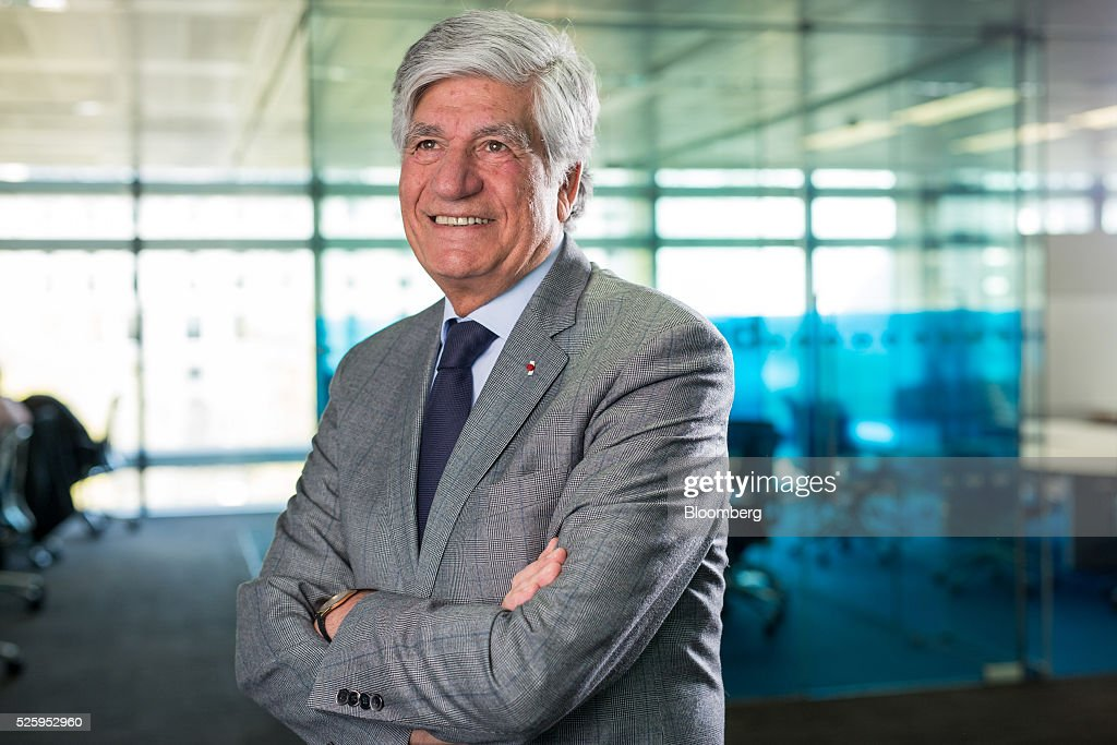 Maurice Levy, chief executive officer of Publicis Groupe SA, poses for a photograph following a Bloomberg Television interview in London, U.K., on Friday, April 29, 2016. Britain risks losing its influence on the global stage if it votes to leave the European Union in June, business leaders warned. Photographer: Jason Alden/Bloomberg via Getty Images