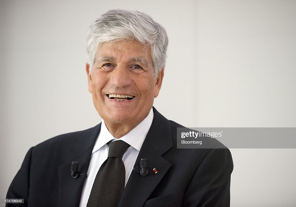 <a gi-track='captionPersonalityLinkClicked' href=/galleries/search?phrase=Maurice+Levy&family=editorial&specificpeople=588854 ng-click='$event.stopPropagation()'>Maurice Levy</a>, chief executive officer of Publicis Groupe SA, reacts during a news conference at the Publicis headquarters in Paris, France, on Sunday, July 28, 2013. Publicis Groupe SA and Omnicom Group Inc. agreed to merge in an all-stock transaction to create the world's largest advertising company with $23 billion in revenue, toppling market leader WPP Plc. Photographer: Balint Porneczi/Bloomberg via Getty Images