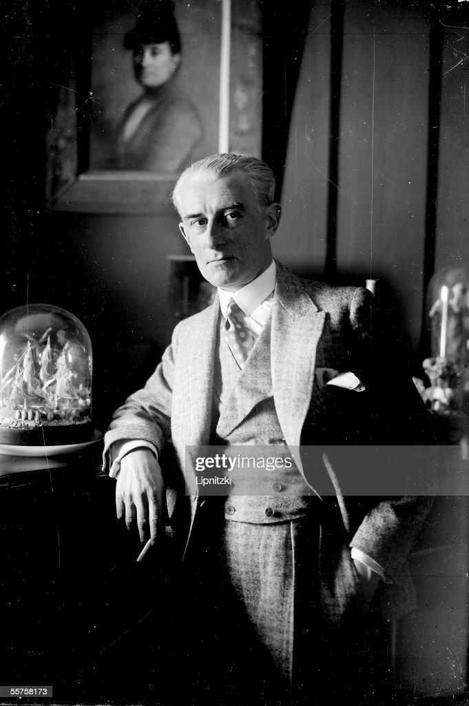 Maurice Ravel french composer at his house LyonslaForet LIP16377