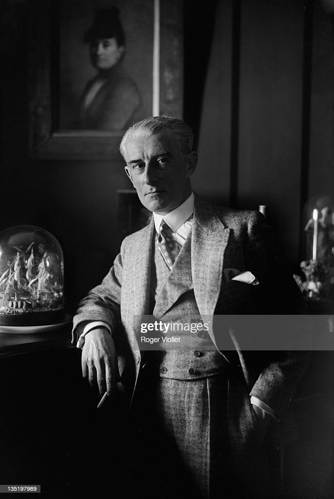Maurice Ravel French composer at home in LyonslaForet France circa 1925