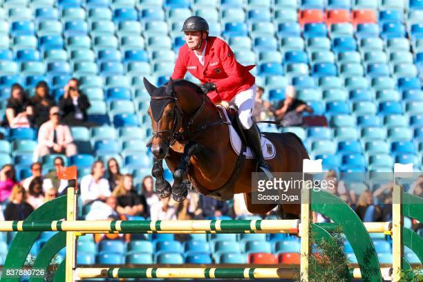 Maurice Tebbel riding Chaccos' Son during Nations Cup Part 1 of the Equestrian European Championships on August 23 2017 in Gothenburg Sweden