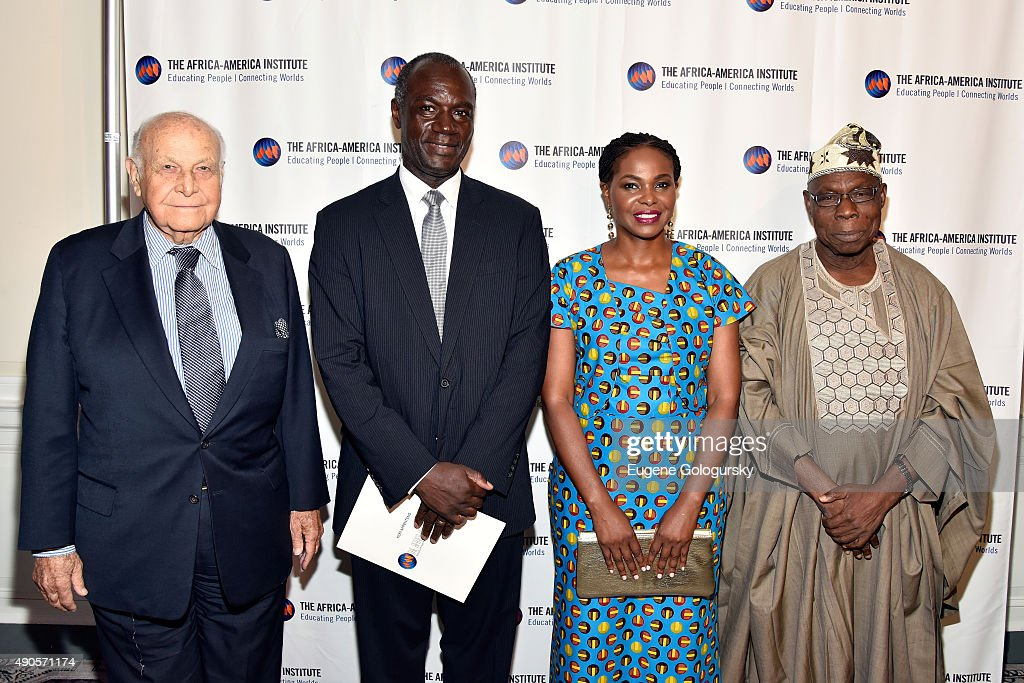 Maurice Tempelsman, Kofi Appenteng, Amini Kajunju and Former President of Nigeria Olusegun Obasanjo attend The Africa-America Institute hosts Future Leaders Legacy Fund Awards gala on September 29, 2015 in New York City.