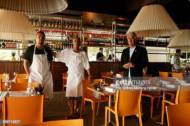 Maurice Terzini in the middle in his new restaurant on the site of the old Moorish restaurant Bondi With Maurice is on the left chef Robert Marchetti...