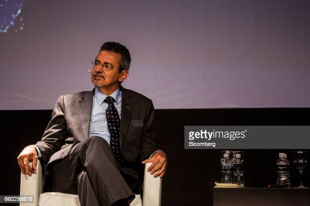 Mauricio Antonio Lopes president of Empresa Brasileira de Pesquisa Agropecuaria listens during the Global Agribusiness Forum in Sao Paulo Brazil on...
