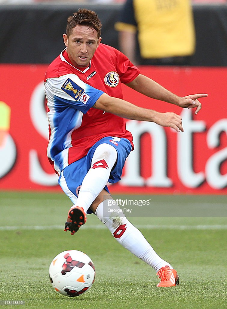 Mauricio Castillo #7 of Costa Rica kicks the ball during a game against Belize in the second half of a CONCACAF Gold Cup match July 13, 2013 at Rio Tinto Stadium in Sandy, Utah. Costa Rica defeated Belize 1-0.
