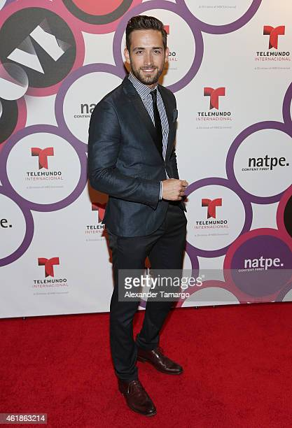 Mauricio Henao arrives at Telemundo International Welcome Party during NATPE 2015 at Adrienne Arsht Center on January 20 2015 in Miami Florida