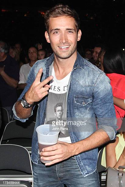 Mauricio Henao attends Carlos Vives concert at American Airlines Arena on July 13 2013 in Miami Florida