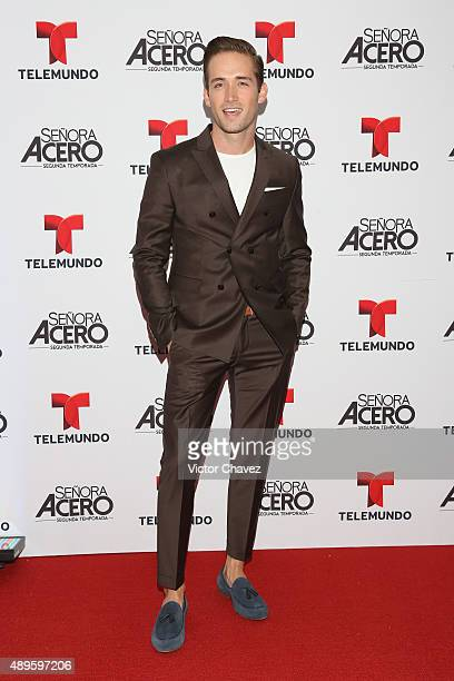Mauricio Henao attends 'Senora Acero' second season premiere red carpet at Cinepolis Plaza Carso on September 22 2015 in Mexico City Mexico