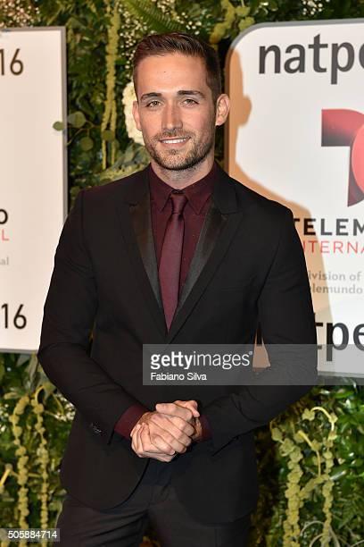 Mauricio Henao attends Telemundo NATPE party on January 19 2016 in Miami Beach Florida