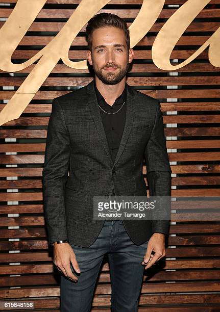 Mauricio Henao is seen at a private dinner hosted by TVyNovelas on October 19 2016 in Miami Florida