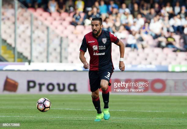 Mauricio Isla of Cagliari Calcio in action during the Serie A match between SSC Napoli and Cagliari Calcio at Stadio San Paolo on May 6 2017 in...