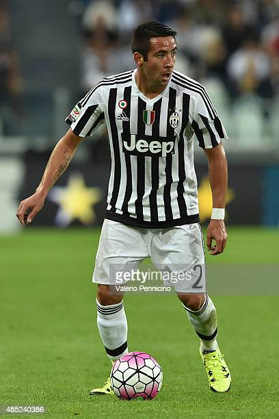 Mauricio Isla of Juventus FC in action during the Serie A match between Juventus FC and Udinese Calcio at Juventus Arena on August 23 2015 in Turin...