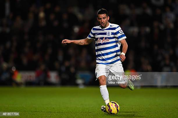 Mauricio Isla of Queens Park Rangers in action during the Barclays Premier League match between Queens Park Rangers v Manchester United at Loftus...