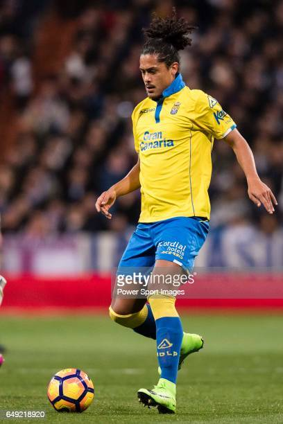 Mauricio Lemos of UD Las Palmas during their La Liga match between Real Madrid vs Las Palmas at the Santiago Bernabeu Stadium on 01 March 2017 in...
