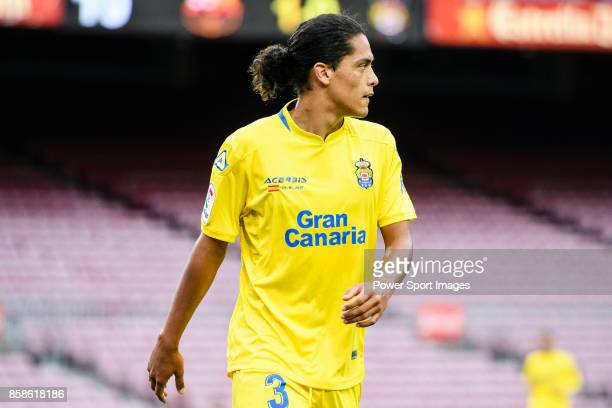 Mauricio Lemos of UD Las Palmas in action during the La Liga 201718 match between FC Barcelona and Las Palmas at Camp Nou on 01 October 2017 in...