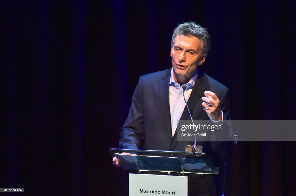 <a gi-track='captionPersonalityLinkClicked' href=/galleries/search?phrase=Mauricio+Macri&family=editorial&specificpeople=773012 ng-click='$event.stopPropagation()'>Mauricio Macri</a>, Mayor of Buenos Aires and presidential candidate for CAMBIEMOS speaks during the Presidential Debate 'Argentina Debate' at University of Buenos Aires (UBA) Law School on November 15, 2015 in Buenos Aires, Argentina. The NGO Argentina Debate organised the Argentina's presidential debate ahead of the November 22 runoff that will be held in Argentina.