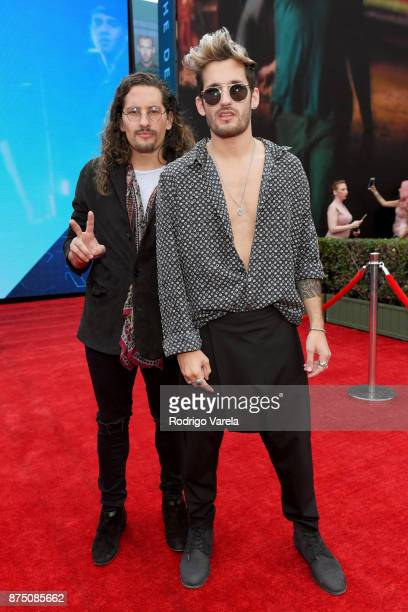 Mauricio Montaner and Ricardo Montaner of Mau y Ricky attend The 18th Annual Latin Grammy Awards at MGM Grand Garden Arena on November 16 2017 in Las...