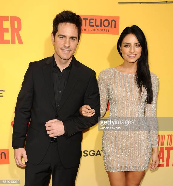 Mauricio Ochmann and Aislinn Derbez attend the premiere of 'How to Be a Latin Lover' at ArcLight Cinemas Cinerama Dome on April 26 2017 in Hollywood...