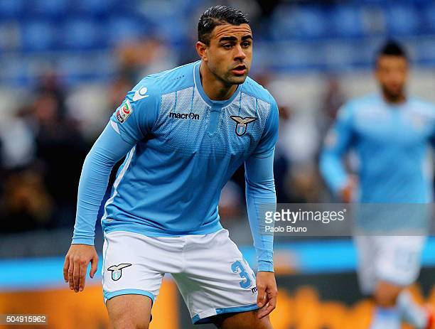 Mauricio of SS Lazio looks on during the Serie A match between SS Lazio and Carpi FC at Stadio Olimpico on January 6 2016 in Rome Italy