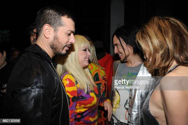 Mauricio Padilha Roger Padilha Debbie Harry Johnny Dynell and Paige Powell attend ROGER PADILHA MAURICIO PADILHA Celebrate Their Rizzoli Publication...