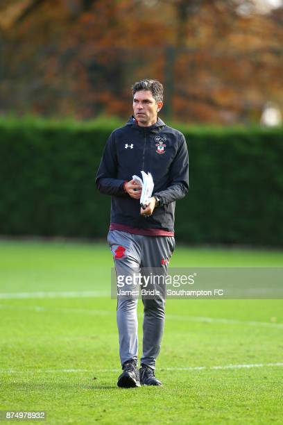 Mauricio Pellegrino during a Southampton FC training session at the Staplewood Campus on November 16 2017 in Southampton England