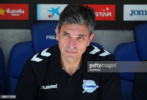 Mauricio Pellegrino during the match between RCD Espanyol and Deportivo Alaves on April 08 2017