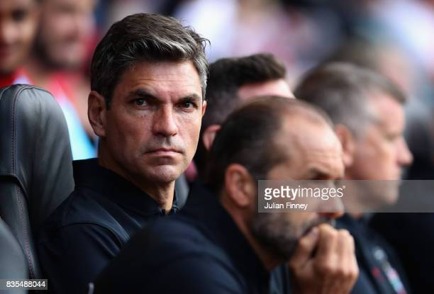 Mauricio Pellegrino Manager of Southampton during the Premier League match between Southampton and West Ham United at St Mary's Stadium on August 19...