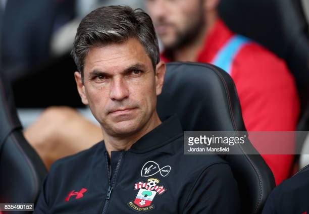 Mauricio Pellegrino Manager of Southampton looks on ahead of the Premier League match between Southampton and West Ham United at St Mary's Stadium on...