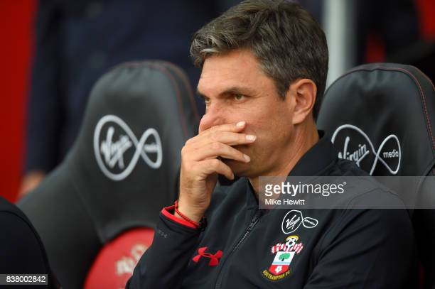 Mauricio Pellegrino Manager of Southampton looks on prior to the Carabao Cup Second Round match between Southampton and Wolverhampton Wanderers at St...