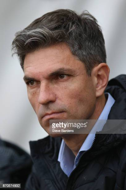 Mauricio Pellegrino Manager of Southampton looks on prior to the Premier League match between Southampton and Burnley at St Mary's Stadium on...