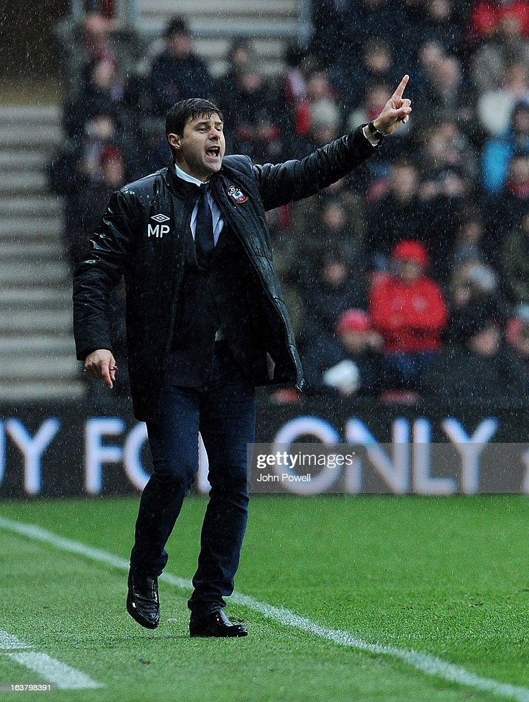 <a gi-track='captionPersonalityLinkClicked' href=/galleries/search?phrase=Mauricio+Pochettino&family=editorial&specificpeople=234444 ng-click='$event.stopPropagation()'>Mauricio Pochettino</a> manager of Southampton during the Barclays Premier League match between Southampton and Liverpool at St Mary's Stadium on March 16, 2013 in Southampton, England.