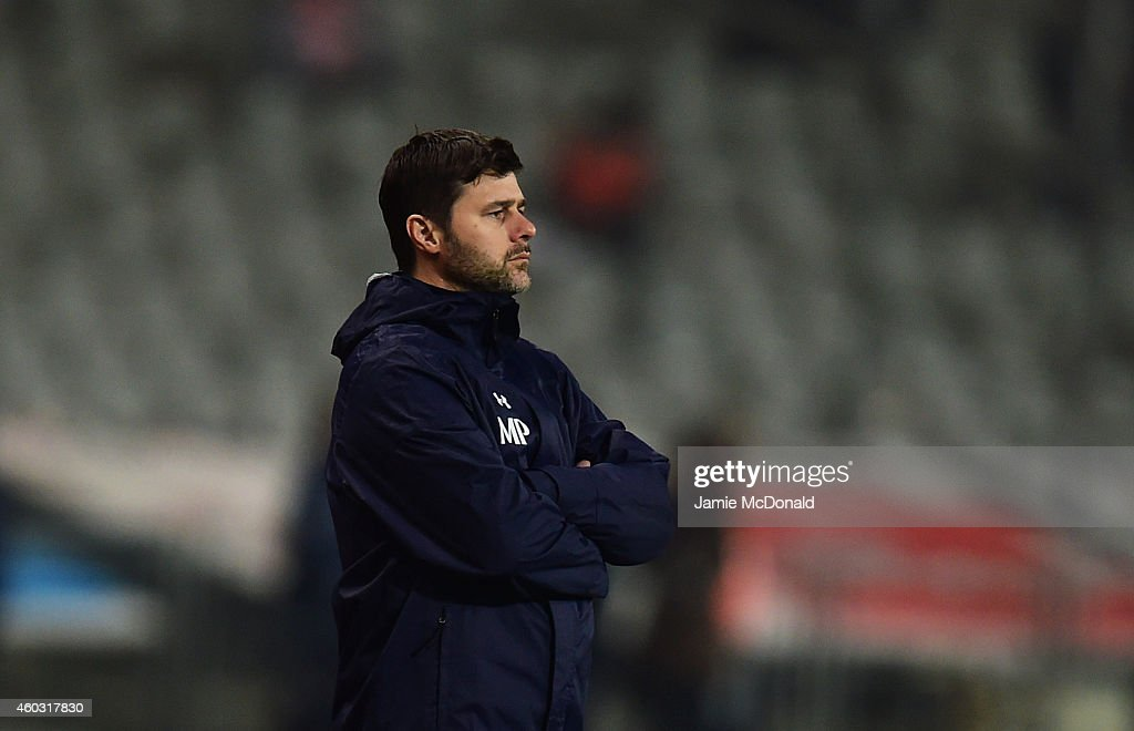 Mauricio Pochettino manager of Spurs looks on during the UEFA Europa League Group C match between Besiktas JK and Tottenham Hotspur FC at Ataturk Olympic Stadium on December 11, 2014 in Istanbul, Turkey.
