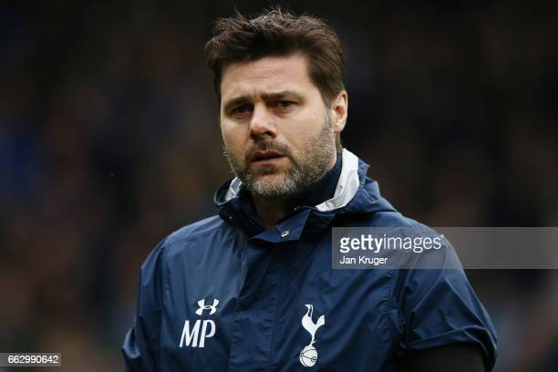 Mauricio Pochettino Manager of Tottenham Hotspur looks on during the Premier League match between Burnley and Tottenham Hotspur at Turf Moor on April...