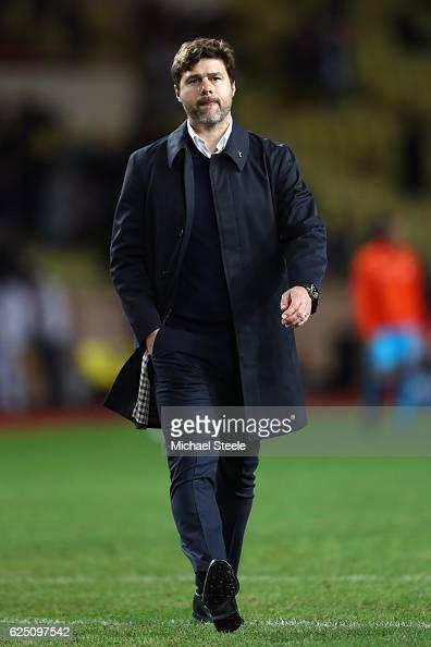 Mauricio Pochettino manager of Tottenham Hotspur walks off after the UEFA Champions League Group E match between AS Monaco FC and Tottenham Hotspur...