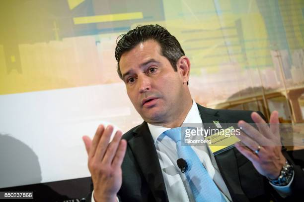 Mauricio Quintella Brazil's minister of transportation and ports speaks during the Brazil The Road Ahead event in New York US on Wednesday Sept 20...