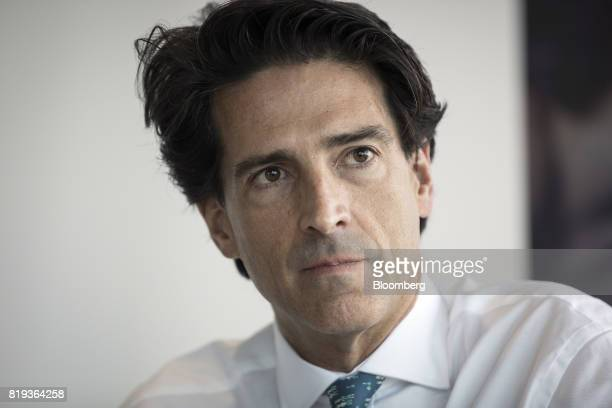 Mauricio Ramos chief executive officer of Millicom International Cellular SA pauses during an interview in London UK on Thursday July 20 2017...