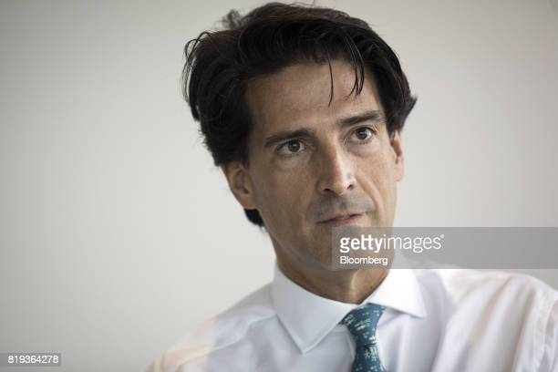 Mauricio Ramos chief executive officer of Millicom International Cellular SA speaks during an interview in London UK on Thursday July 20 2017...