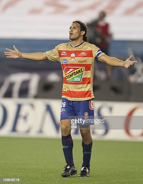 Mauricio Romero of Monarcas Morelia reacts to a call in the second half against the New England Revolution during the SuperLiga 2010 championship...