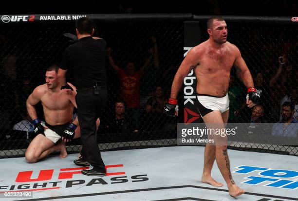 Mauricio Rua of Brazil celebrates after his TKO victory over Gian Villante in their light heavyweight bout during the UFC Fight Night event at CFO...