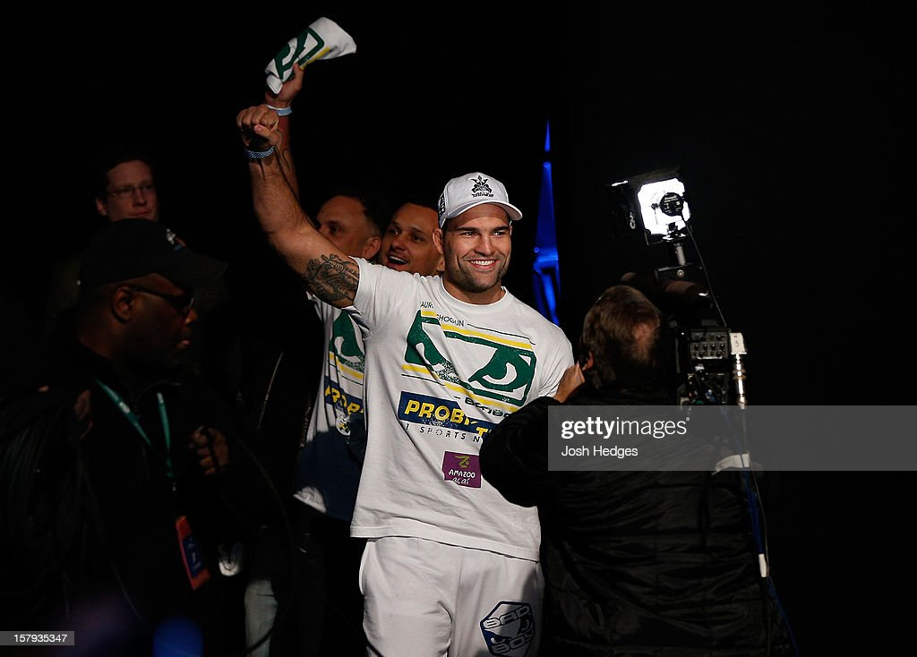 Mauricio 'Shogun' Rua enters the arena before weighing in during the official UFC on FOX weigh in on December 7, 2012 at Key Arena in Seattle, Washington.