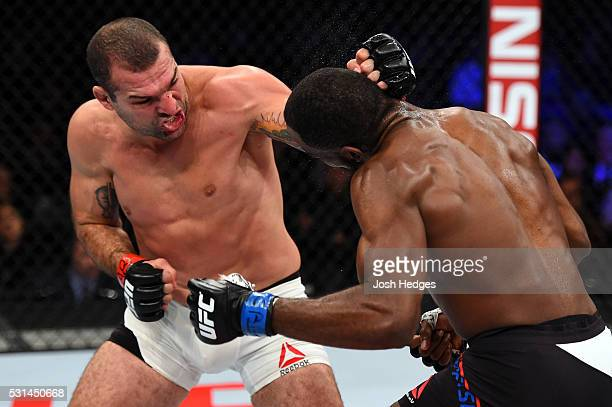 Mauricio 'Shogun' Rua of Brazil punches Corey Anderson in their light heavyweight bout during the UFC 198 event at Arena da Baixada stadium on May 14...
