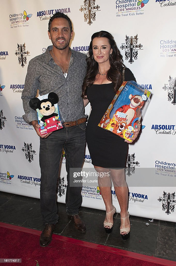 Mauricio Umansky and actress <a gi-track='captionPersonalityLinkClicked' href=/galleries/search?phrase=Kyle+Richards&family=editorial&specificpeople=2586434 ng-click='$event.stopPropagation()'>Kyle Richards</a> attend The Abbey's 8th Annual Christmas in September event benefiting The Children's Hospital Los Angeles at The Abbey on September 24, 2013 in West Hollywood, California.