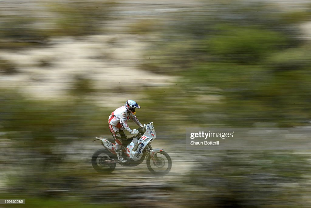 Maurico Javier Gomez of Yamaha Racing Team Argentina competes in Stage 8 from Salta to Tucuman during the 2013 Dakar Rally on January 12, 2012 in Salta, Argentina.