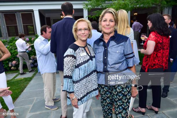 Maurie Perl and Eileen Ekstract attend NYSCF Summer Cocktail Reception at a Private Residence on July 28 2017 in Sagaponack New York