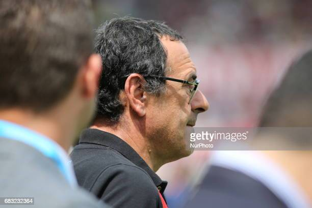 Maurisio Sarri head coach of SSC Napolibefore the Serie A football match between Torino FC and SSC Napoli at Olympic stadium Grande Torino on may 14...