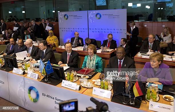 Mauritania President Mohamed Ould Abdel Aziz European Union Council president Herman Van Rompuy European Commission President Jose Manuel Barroso...