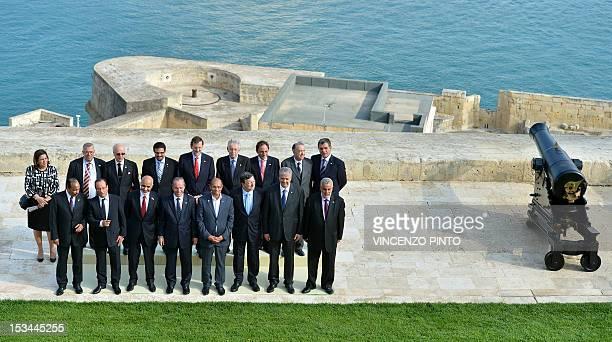 Mauritanian President Mohamed Ould Abdel Aziz French President Francois Hollande Libyan President Mohamed Magariaf Maltese Prime Minister Lawrence...