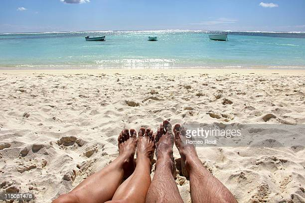 Mauritius - beach, boats and legs