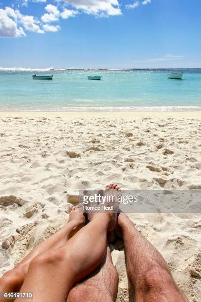 Mauritius honeymoon - beach, boats and legs 3
